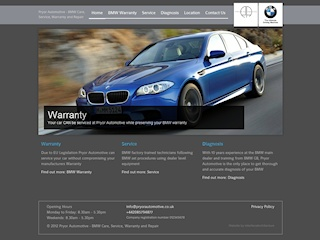 Automotive services websites